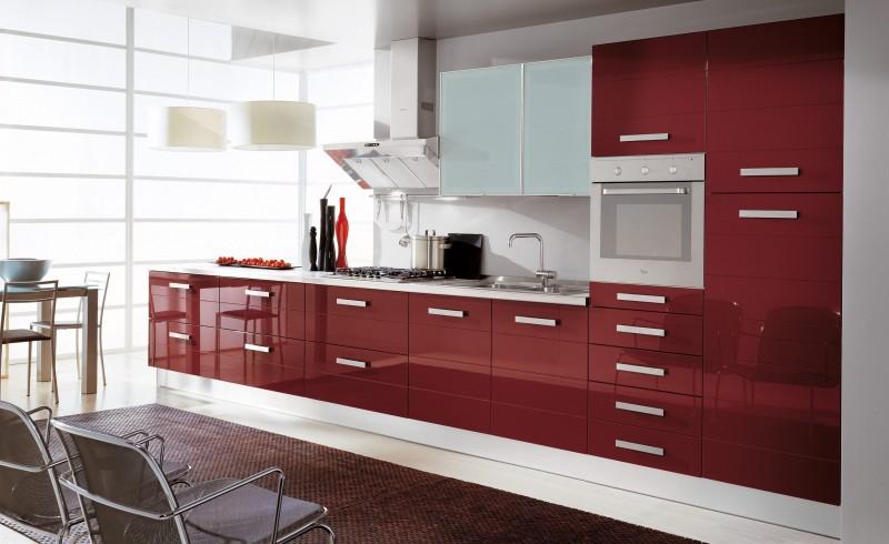 Model de cuisine moderne cuisines poignees inoxtours for Exemple couleur cuisine