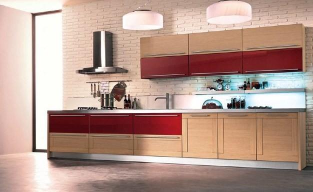 Cuisine modele baltique bois massif contemporain for Model cuisine en bois