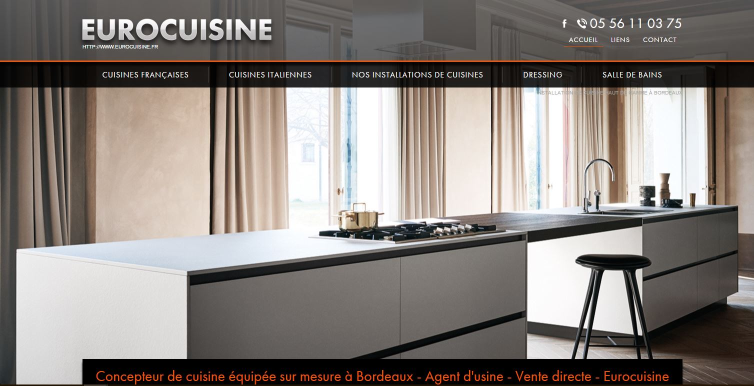 Cuisines made in france haut de gamme bordeaux euro for Fabricants cuisine