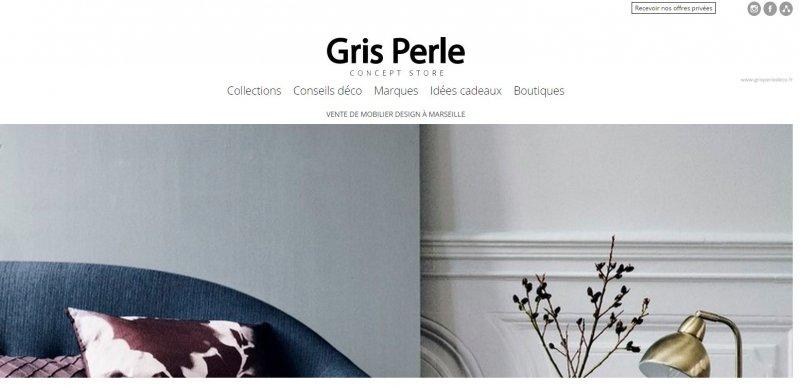 nouveau concept store sur marseille gris perle mobilier d coration architecture c t. Black Bedroom Furniture Sets. Home Design Ideas