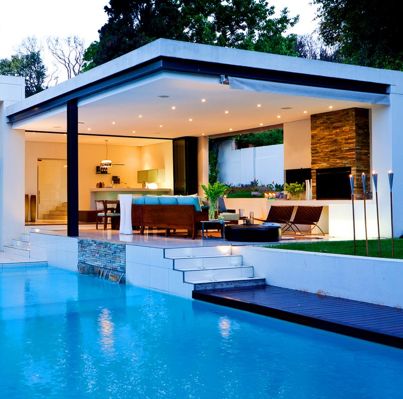 Stunning photos pool house piscine ideas for Local technique piscine pool house