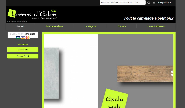 Boutique en ligne de carrelage design terres d 39 eden for Carrelage en ligne
