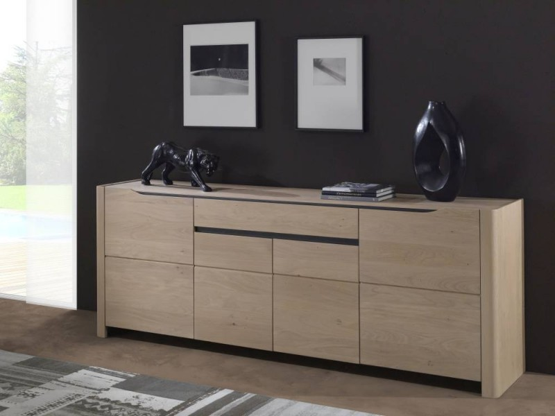 s jour contemporain lilou en 100 ch ne massif mobilier. Black Bedroom Furniture Sets. Home Design Ideas